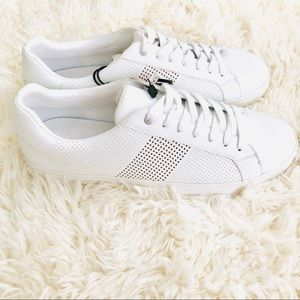 NWT ZARA Perforated White Sneakers